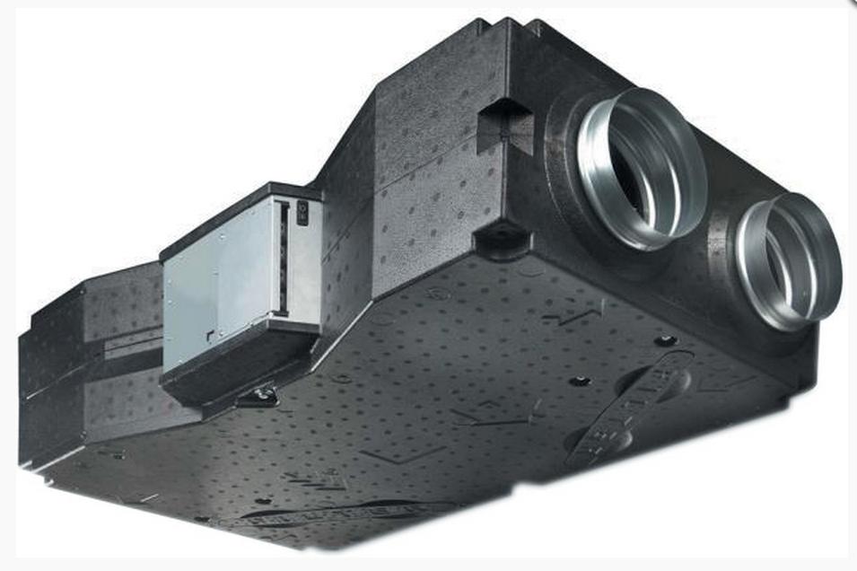 Компактная приточно-вытяжная установка с электрическим преднагревателем 2VV Venus HRV 15EC-CF-P-N-EN-74-R-P0