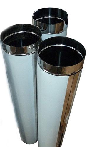 Воздуховод из нержавеющей стали круглого сечения EVG L 1250/0,8