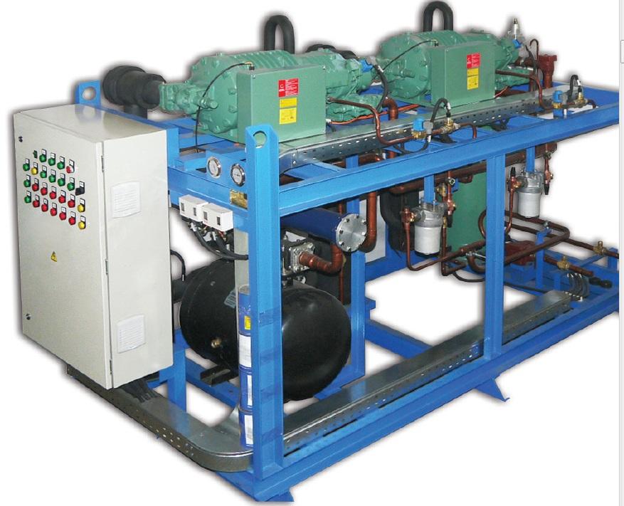 Агрегат поршневый Термомаш АСП-2DES3 однокомпрессорные, среднетемпературные