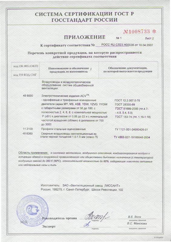 Сертификат качества.