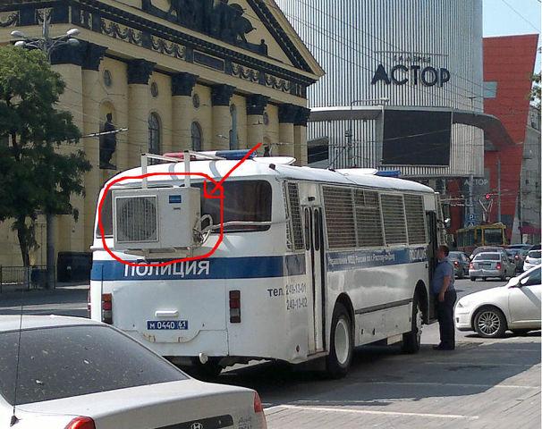 Ростовские полицейские тестируют озноб-мобиль