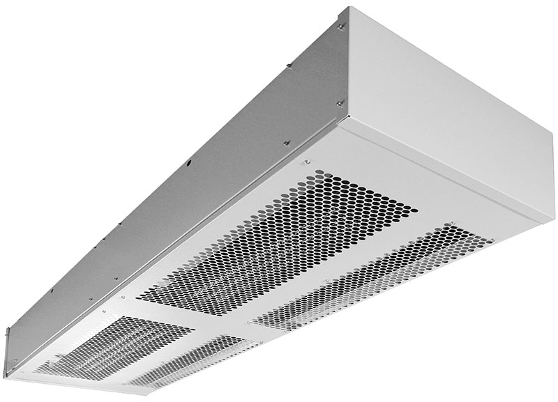 В небольших неотапливаемых помещениях тепловая завеса может использоваться как источник тепла.