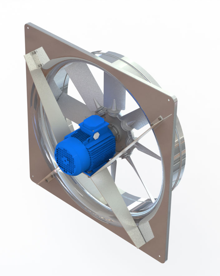 Укомплектовка камер для сушки древесины вентиляцией