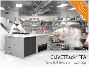 Новинка от Clivet: новые крышные кондиционеры CLIVET Pack2 FFA