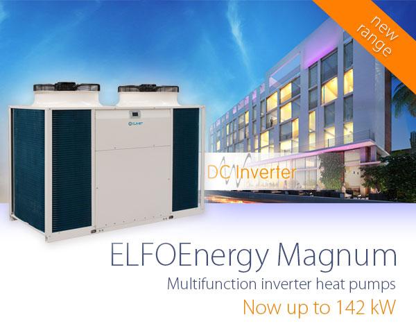 Расширение серии тепловых насосов Clivet Magnum Multifunction до 142 кВт