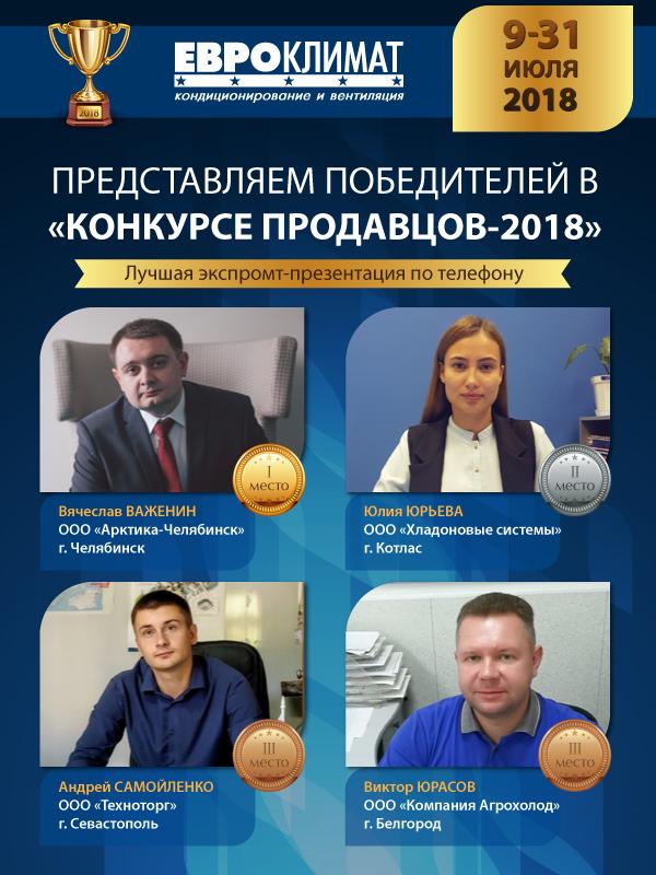 Поздравляем победителей Конкурса продавцов-2018