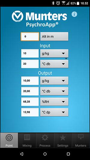 Обновленная версия приложения Munters PsychroApp™ для iOS и Android