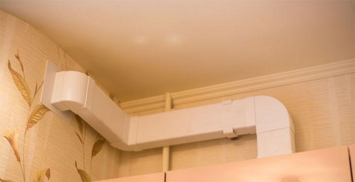Пластиковые воздуховоды для вытяжки на кухне