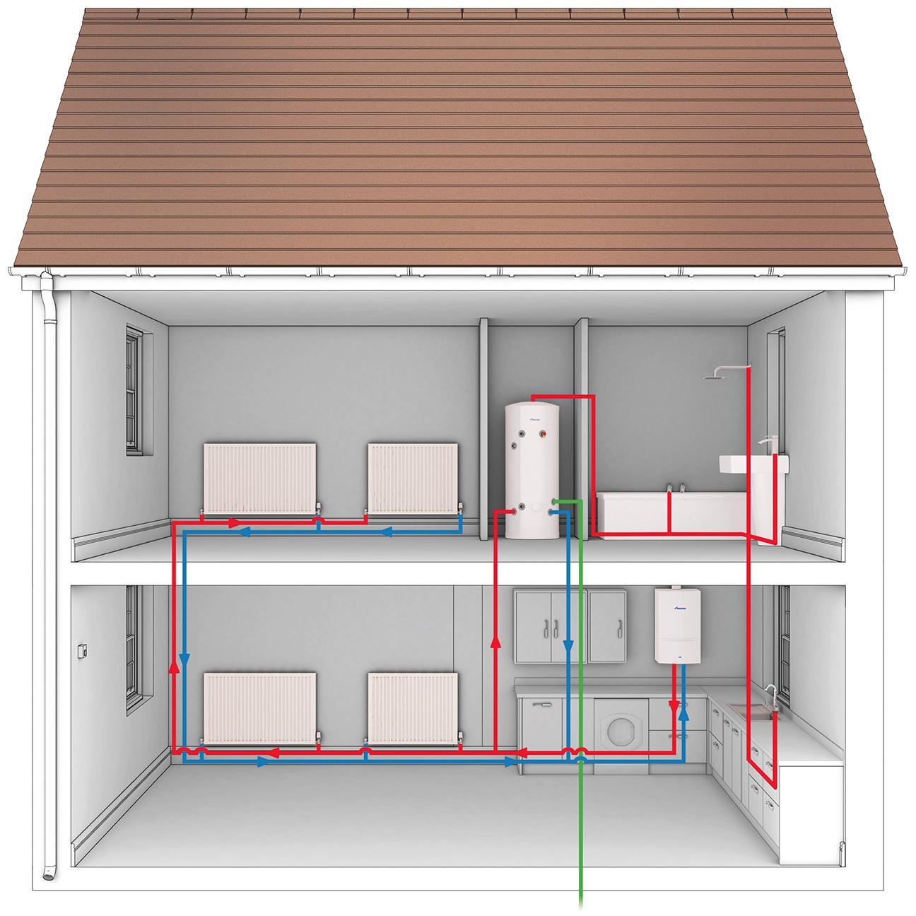 Принцип работы соушителя воздуха конденсационного типа