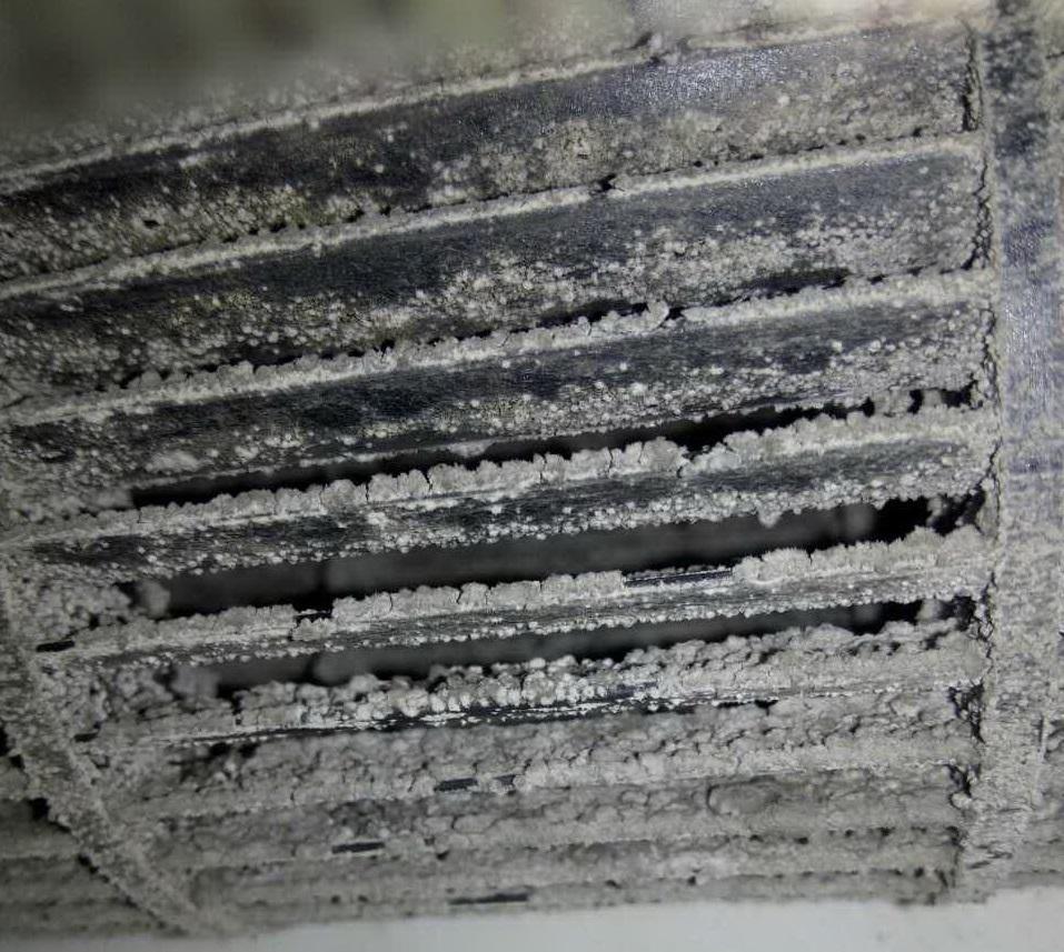 Крыльчатка внутреннего блока перед чисткой